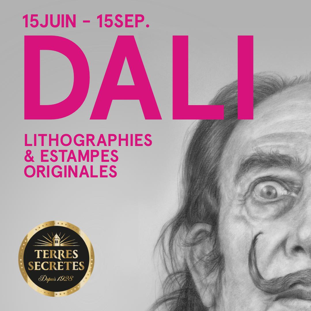 Du 15 juin au 15 septembre, exposition DALI à la cave de Prissé !